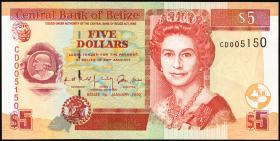 Belize P.61b 5 Dollars 2002 (1)