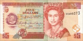 Belize P.67c 5 Dollars 2007 (1)