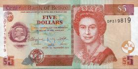 Belize P.67e 5 Dollars 2011 (1)