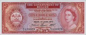 Belize P.35a 5 Dollars 1975 (1)