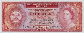 Belize P.35b 5 Dollars 1976 (1)