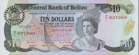 Belize P.48a 10 Dollars 1987 (1)