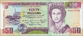 Belize P.56a 50 Dollars 1990 (1)