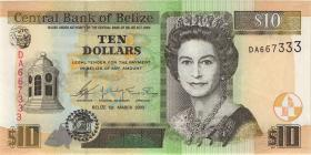 Belize P.68a 10 Dollars 2003 (1)
