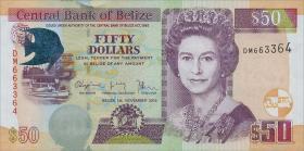 Belize P.70e 50 Dollars 2014 (1)