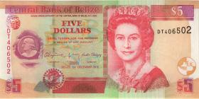 Belize P.67f 5 Dollars 2015 (1)