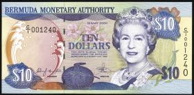 Bermuda P.52a 10 Dollars 2000