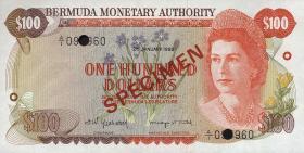 Bermuda P.33s 100 Dollars 1982 Specimen (1)