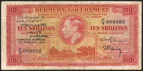 Bermuda P.15 10 Shillings 1947 (3-)