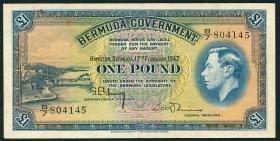 Bermuda P.16 1 Pound 1947 (3+)