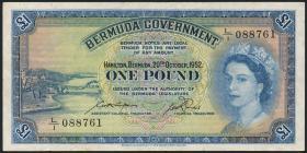 Bermuda P.20a 1 Pound 1952 (3)