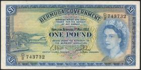 Bermuda P.20b 1 Pound 1957 (3)