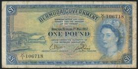 Bermuda P.20b 1 Pound 1957 (4)