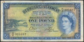 Bermuda P.20c 1 Pound 1957 (4)