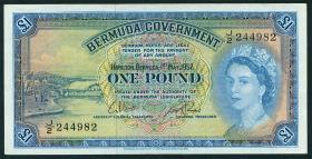 Bermuda P.20c 1 Pound 1957 (1/1-)