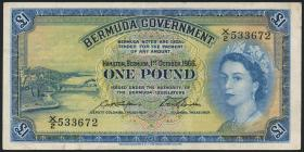 Bermuda P.20d 1 Pound 1966 (3)