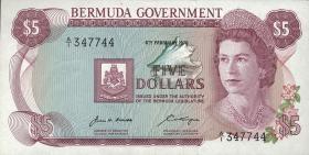 Bermuda P.24a 5 Dollars 1970 A-1 (1)