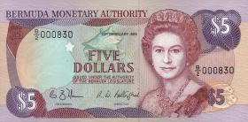 Bermuda P.35b 5 Dollars 1989 (1)