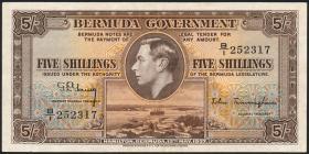 Bermuda P.08b 5 Shillings 1937 (2)