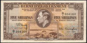 Bermuda P.08b 5 Shillings 1937 (3)
