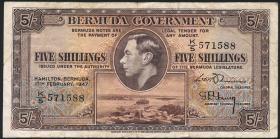 Bermuda P.14 5 Shillings 1947 (4)