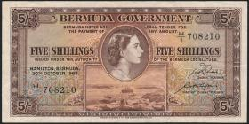 Bermuda P.18a 5 Shillings 1952 (3)