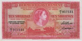 Bermuda P.19c 10 Shillings 1966 (3/2)