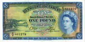 Bermuda P.20c 1 Pounds 1957 (3+)