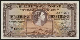 Bermuda P.18b 5 Shillings 1957 (1)