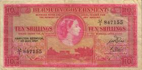 Bermuda P.19b 10 Shillings 1957 (4)