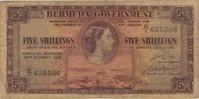 Bermuda P.18a 5 Shillings 1952 (4)