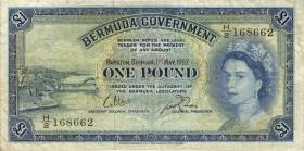 Bermuda P.20c 1 Pound 1957 (3)