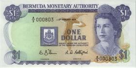 Bermuda P.28d 1 Dollar 1988 A-9 (1) low number