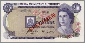 Bermuda P.30s 10 Dollars 1978 (1) SPECIMEN