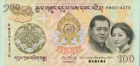 Bhutan P.35 100 Ngultrum (2011) (1)