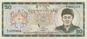 Bhutan P.16b 20 Ngultrum (1992) (1)