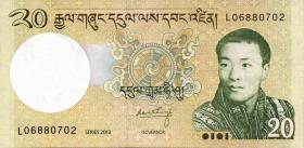 Bhutan P.30b 20 Ngultrum 2013 (1)
