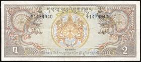 Bhutan P.06 2 Ngultrum (1981) (3)