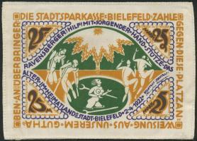 Notgeld Bielefeld GP.18 25 Mark 1922 Seide (1)