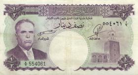 Tunesien / Tunisia P.57 1/2 Dinar o.D. (3)