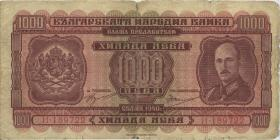 Bulgarien / Bulgaria P.059a 1000 Lewa 1940 (5)