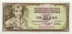 Jugoslawien / Yugoslavia P.087r 10 Dinara 1978 ZA (1)