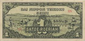 Ndl. Indien / Netherlands Indies P.129 1 Rupie (1944) (2+)