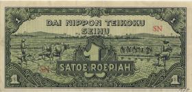Ndl. Indien / Netherlands Indies P.129 1 Rupie (1944) (3+)
