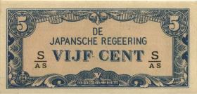 Ndl. Indien / Netherlands Indies P.120c 5 Cent (1942) (1)