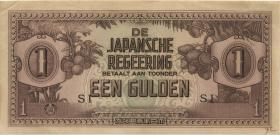 Ndl. Indien / Netherlands Indies P.123c 1 Gulden (1942) (1-)