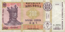 Moldawien / Moldova P.16c 200 Lei 2009 (3)