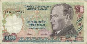 Türkei / Turkey P.196A 5000 Lira 1970 (1981) (3)