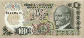 Türkei / Turkey P.189 100 Lira 1970 (1972) (1)