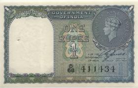 Indien / India P.025a 1 Rupie 1940 (1)